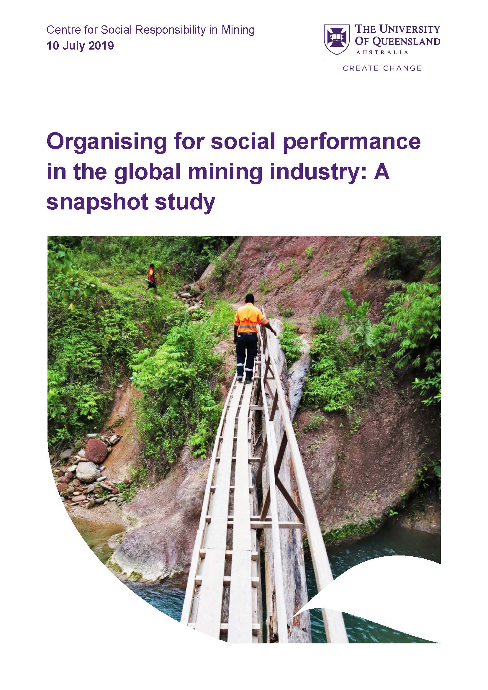 Organising for social performance in the global mining industry: A snapshot study
