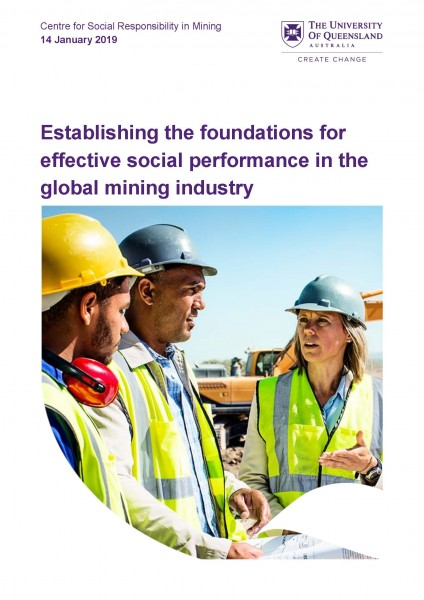 Establishing the foundations for effective social performance in the global mining industry Cover